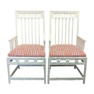 Chinese Chippendale Occasional Chairs - A Pair For Sale