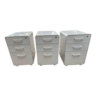 Poppin 3 Drawer File Cabinets, Legal Size For Sale