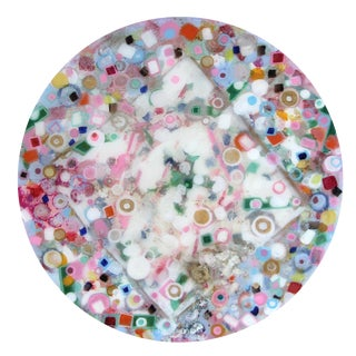 Contemporary Multi-Colored Circular Painting by Natasha Mistry For Sale