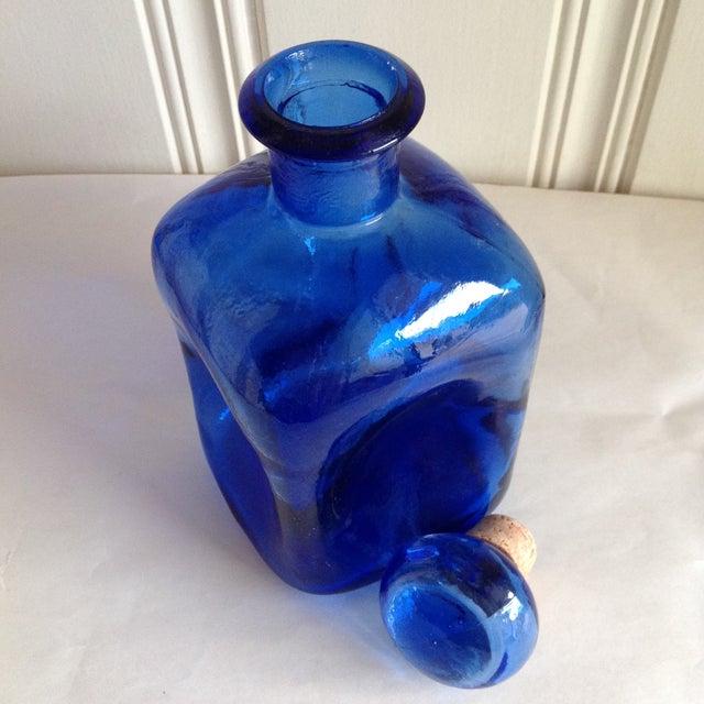 Cobalt Blue Artisan Glass Apothecary Bottle - Image 4 of 6