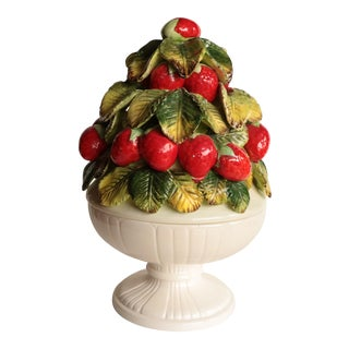 Strawberry Topiary Covered Bowl