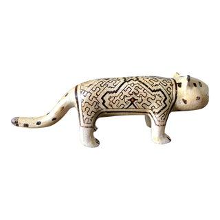 Vintage Shipibo Pottery Leopard For Sale