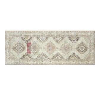 "1960s Turkish Oushak Carpet - 4'9"" X 12'4"" For Sale"