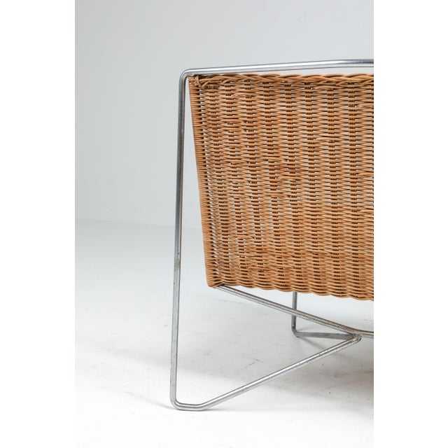 Rattan and Steel Armchairs Gelderland, 1964 - a Pair For Sale - Image 12 of 13