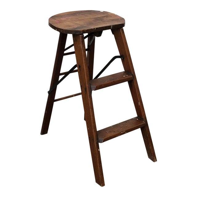 Amazing 1910S Vintage Wood Cracker Jack Step Stool Andrewgaddart Wooden Chair Designs For Living Room Andrewgaddartcom