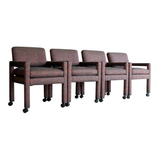 Milo Baughman for Thayer Coggin Parsons Chairs, Set of 4