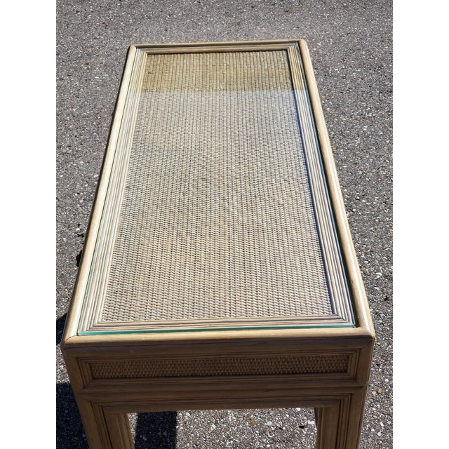 1960s 1960's Vintage Ficks Reed Woven Seagrass Vanity For Sale - Image 5 of 10