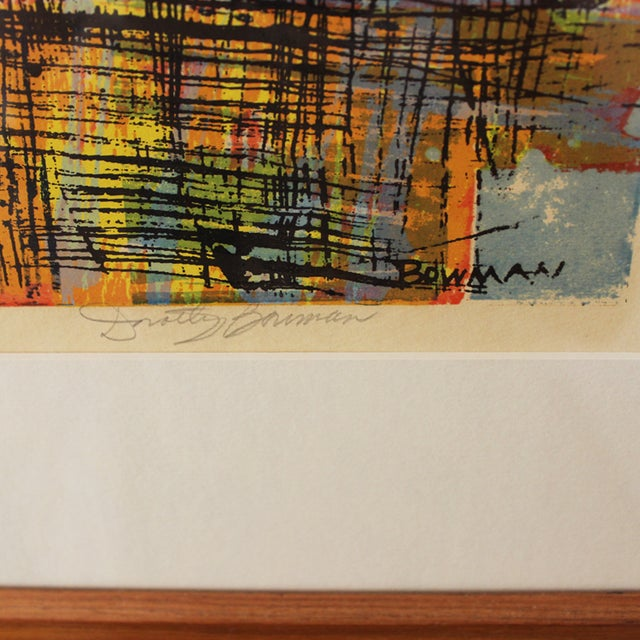 Mid-Century Serigraph by Dorothy Bowman For Sale - Image 4 of 8