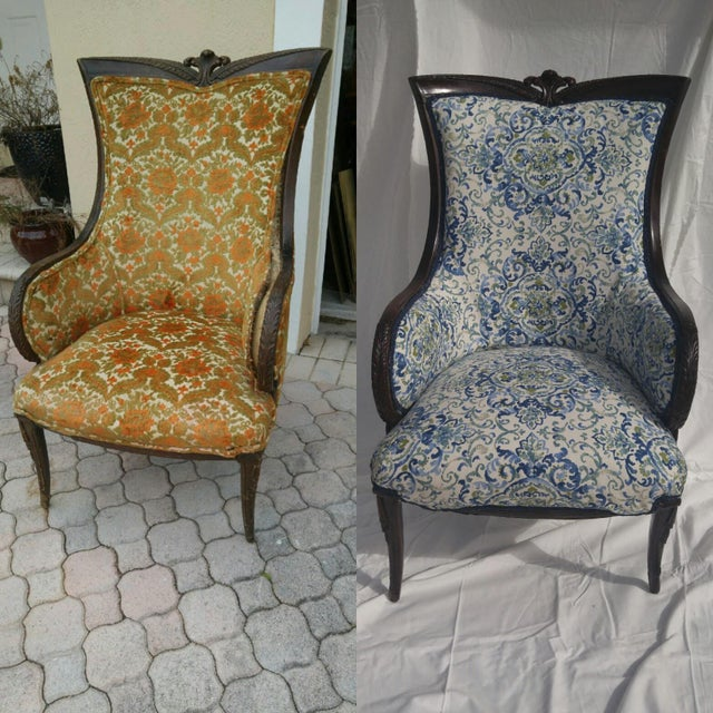 Transitional Antique Wooden Arm Chair - Image 9 of 11