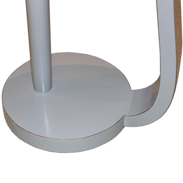 Contemporary Round Gray Cocktail Table For Sale - Image 4 of 7