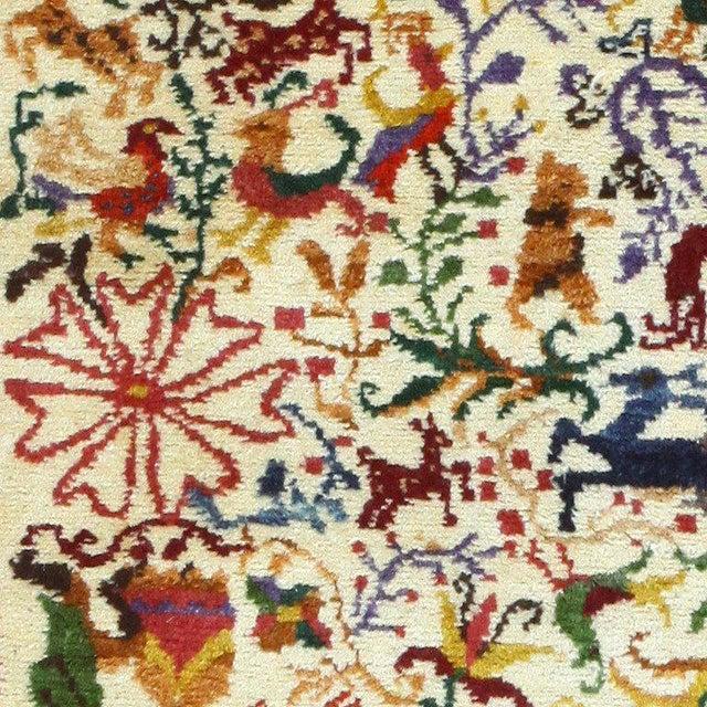 "Vintage Ecuadorian Animal Carpet - 3′10″ × 5′7"" For Sale - Image 4 of 7"