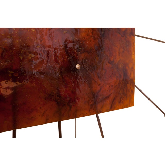 Wall Mounted Sun Lamp in Brass & Resin For Sale - Image 10 of 11