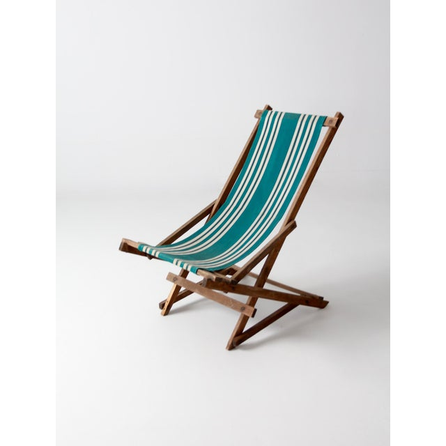 Vintage American Deck Chair For Sale - Image 6 of 9