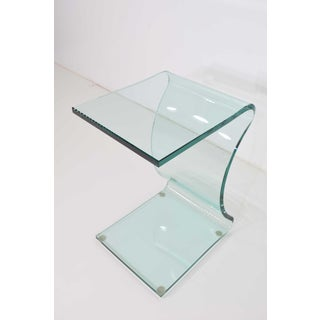 L. Fife Signed Glass Side Table Preview