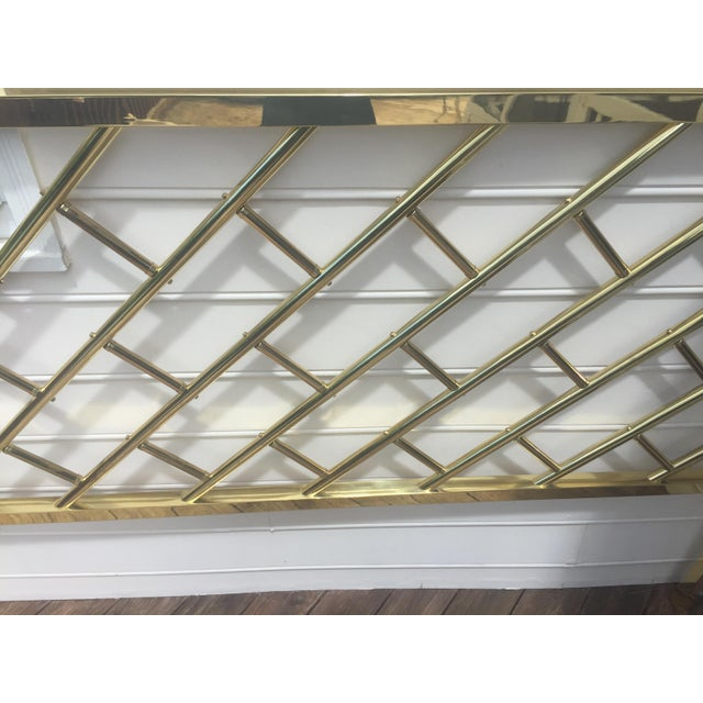 Chippendale Style Brass King Headboard For Sale - Image 4 of 9