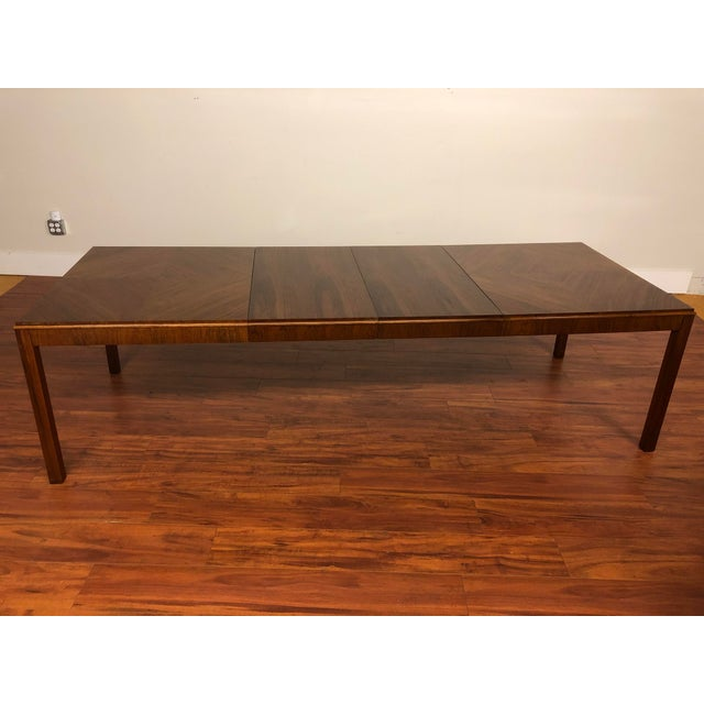 Brown Maurice Villency Expandable Dining Table For Sale - Image 8 of 13