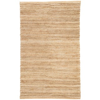 Jaipur Living Clifton Natural Solid Tan/ White Area Rug - 9′ × 12′ For Sale