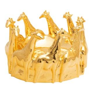 24 Karat Gold Painted Giraffe Centerpiece, ND Dolfi For Sale