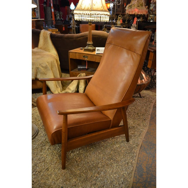 Milo Baughman for Thayer Coggin Tighten Up Recliner Armchair. Fully reupholstered using high end brown Edelman leather and...