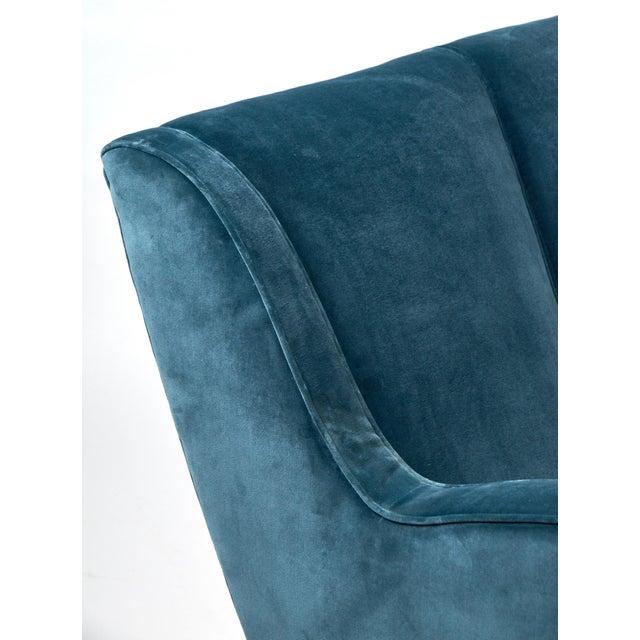 Mid-Century Italian Poltrona Frau Velvet Sofa For Sale In Austin - Image 6 of 10