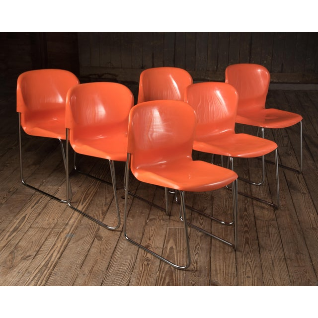 """1976 Vintage Gerd Lange """"Swing Chairs"""" - Set of 6 For Sale - Image 13 of 13"""