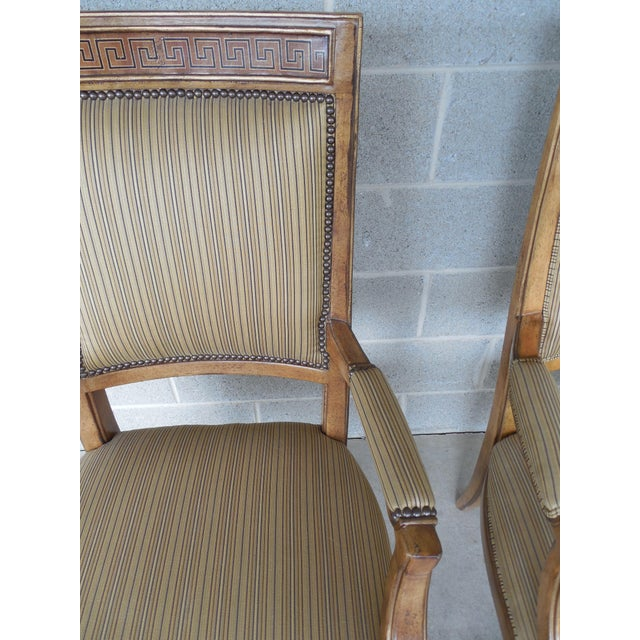 Ferguson Copeland Neoclassical Regency Style Chairs - Set of 8 - Image 6 of 11