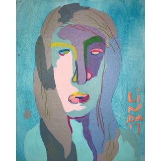 "Contemporary Abstract Portrait Painting ""Something for Everyone, No. 2"" For Sale"