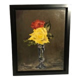 Image of Original Floral Oil Painting For Sale