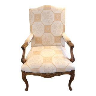 Baker French Style Arm Chair For Sale