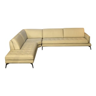 Contemporary Italian Leather Sectional For Sale