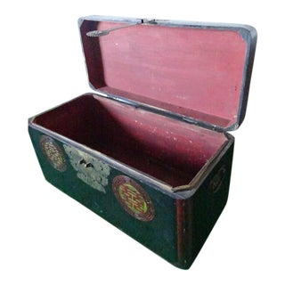 Early 20th Century Vintage Asian Storage Trunk For Sale
