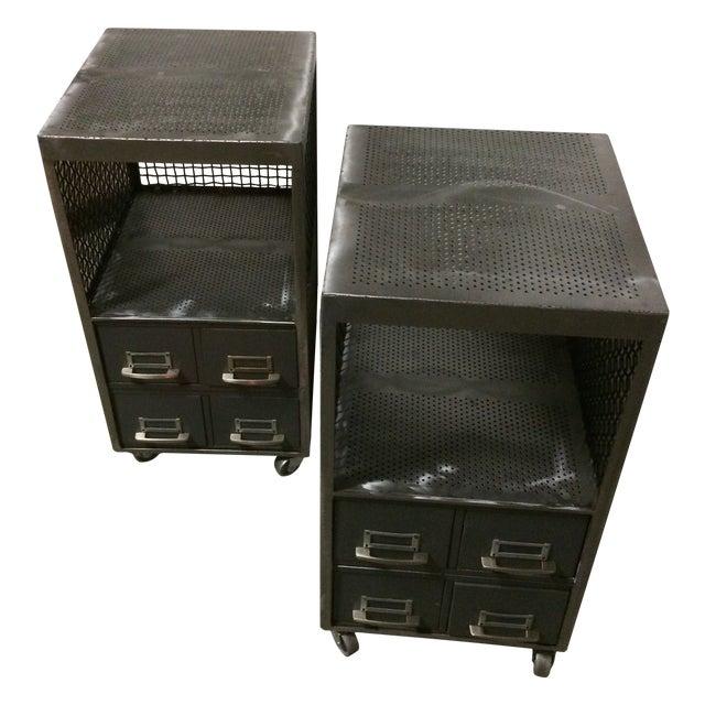 Repurposed Metal Industrial Tables - Pair - Image 1 of 7