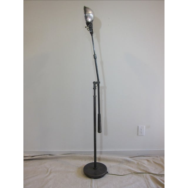Articulating Industrial-Style Steel Floor Lamp - Image 6 of 8
