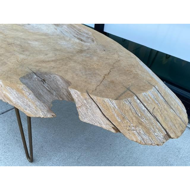 Metal Vintage Live Edge Coffee Table For Sale - Image 7 of 8