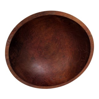 Solid Mahogany Wood Bowl For Sale