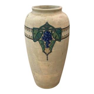 Vintage Brush Ware Vase, Signed For Sale