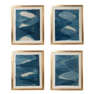 Contemporary Abstract Framed Silkscreen Prints - Set of 4 For Sale