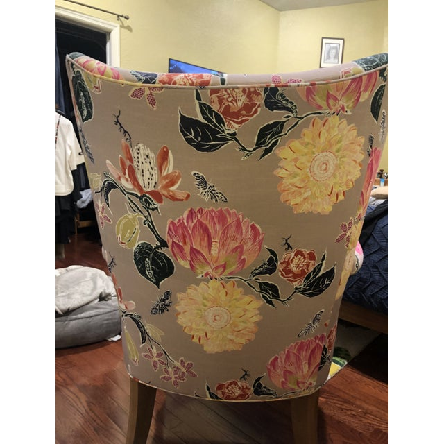 Anthropologie Modern Anthropologie Lotus Blossom Wingback Chair For Sale - Image 4 of 11