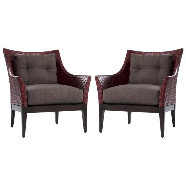 Kriess Safari Lounge Chairs - A Pair - Image 1 of 7
