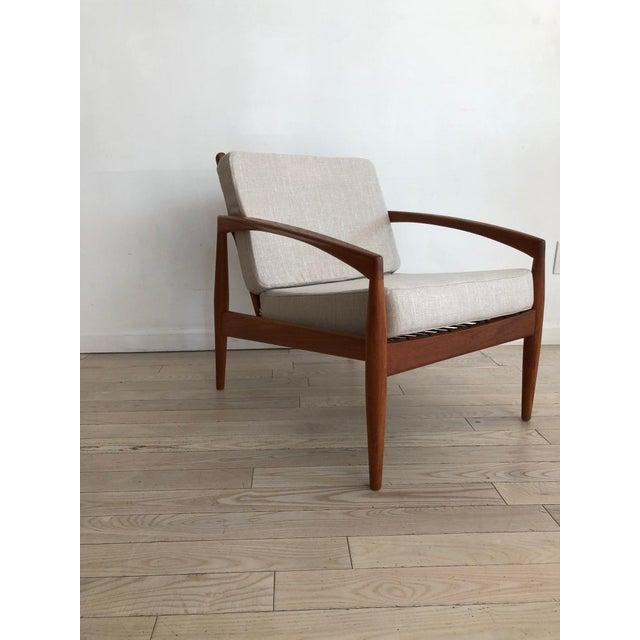 Magnus Olesen 1955 Mid-Century Modern Kai Kristiansen Teak Paper Knife Easy Chair For Sale - Image 4 of 13