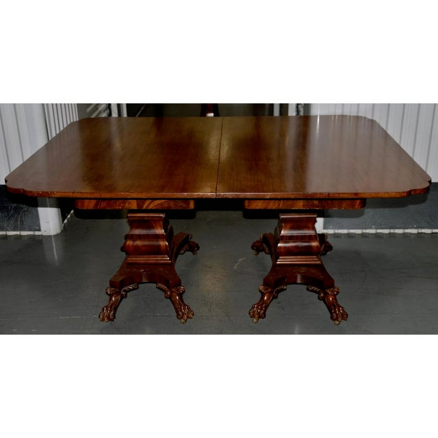 Mahogany 19th C. William IV Style Mahogany Extending Dining Table W/ Lions Paw Feet For Sale - Image 7 of 7