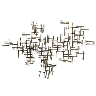 Large William Bowie Abstract Wall Nail Sculpture For Sale