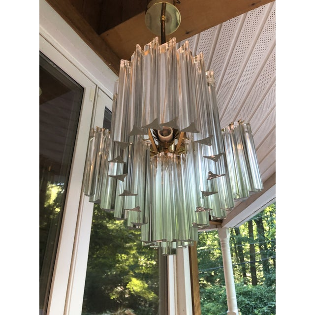 Mid-Century Modern Vintage Italy Mid-Century Venini Camer Murano Glass Chandelier For Sale - Image 3 of 13