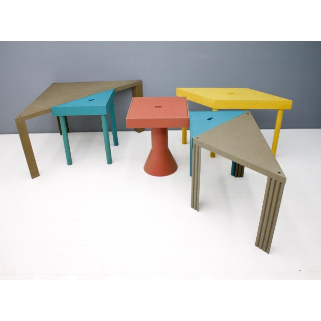 Cassina Set of Six Tangram Tables by Massimo Morozzi for Cassina, 1983 For Sale - Image 4 of 11