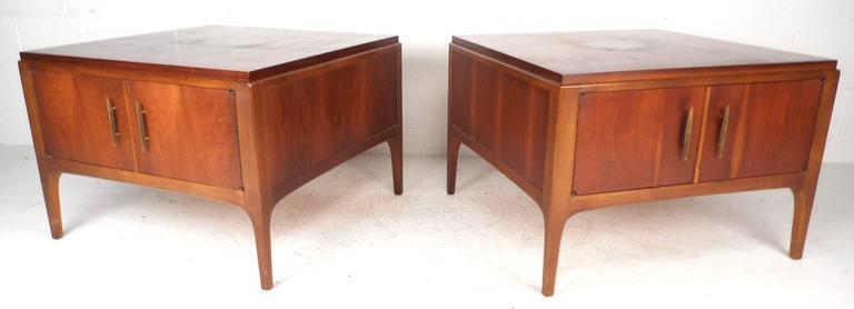 Captivating Lane Furniture Mid Century Low End Tables   A Pair   Image 3 Of 8