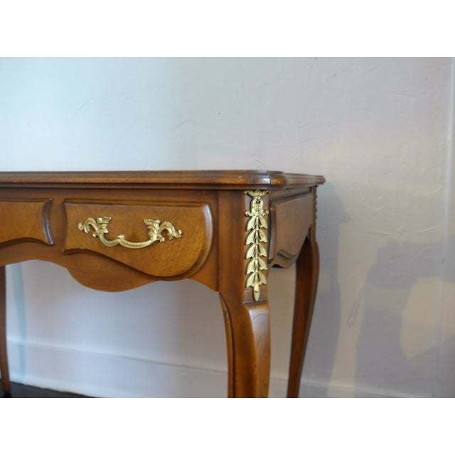 French 1960's Leather Top Writing Desk For Sale - Image 3 of 10