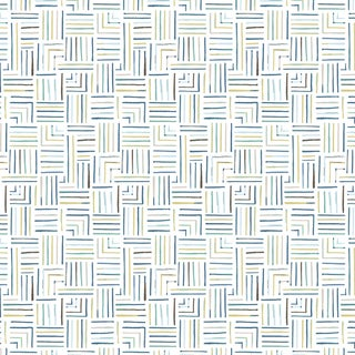 House of Harris Milledge Fabric, Blue Multi For Sale