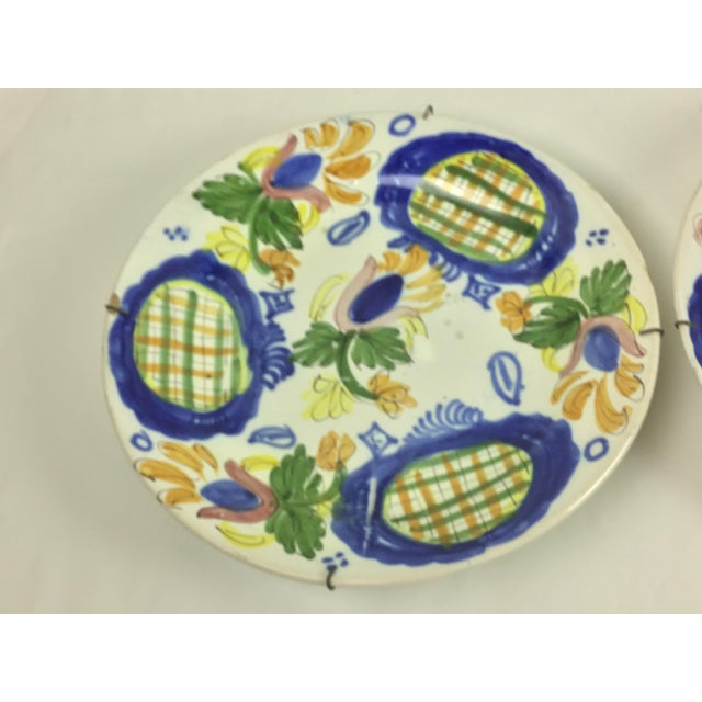 19th Century Country Dutch Gaudy Faience Plates - a Pair For Sale - Image 12 of 13