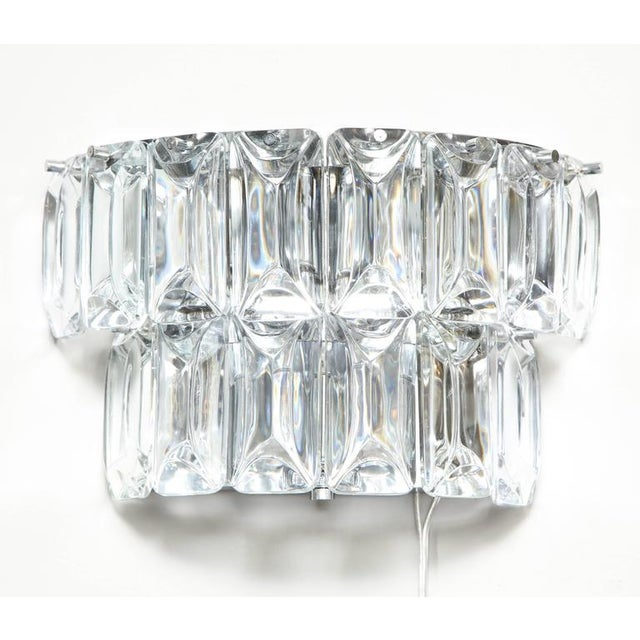 Glass Glamorous 1970s Austrian Crystal Sconces For Sale - Image 7 of 10