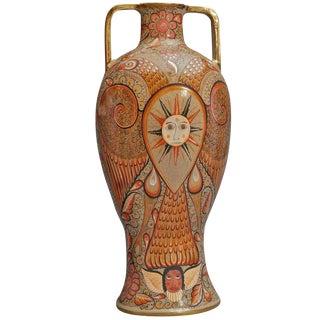 Unique Jose Luis Cotez Burnished Ceramic Vase